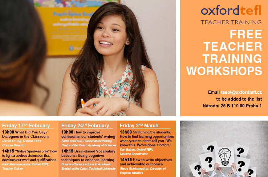 Free teacher training prague