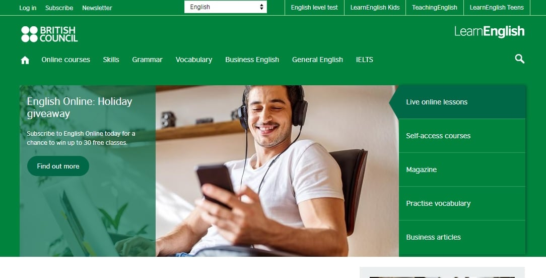 British Council Learn English Online Resources