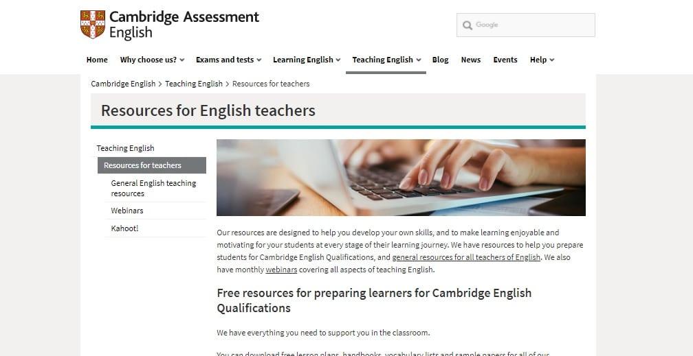 Cambridge Teaching Resources