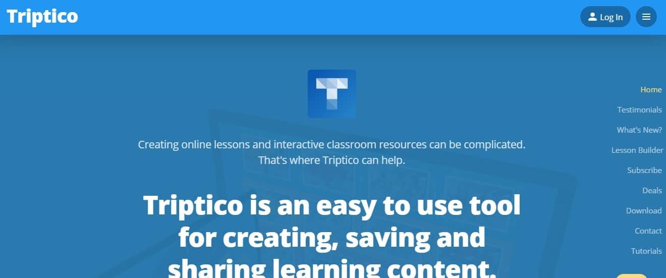 Triptico Online Resources